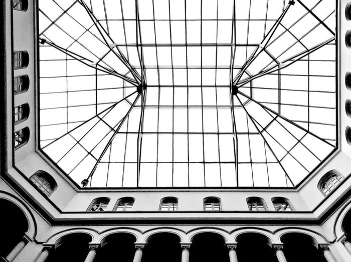 296 / 365 Architecture Built Structure Ceiling Indoors  Low Angle View Symetrical Pattern Symetry... Symmetry Window