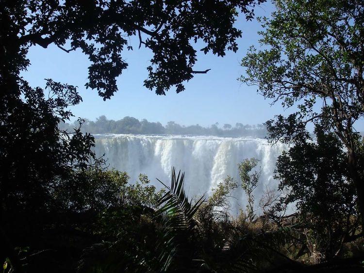 Water Beauty In Nature Waterfall Landscape Victoriafalls Zimbabwe