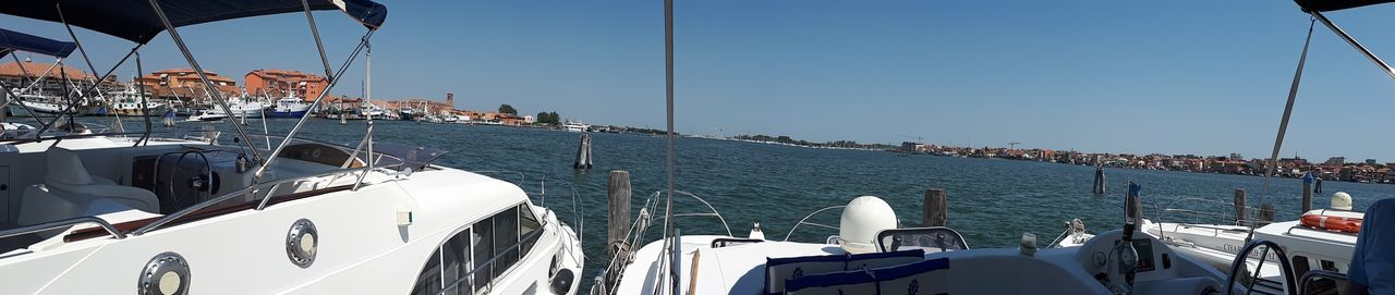 Clear Sky Day Holiday Luxury Mode Of Transportation Nature Nautical Vessel No People Outdoors Passenger Craft Recreational Boat Sailboat Sailing Sea Sky Sunlight Transportation Travel Trip Vacations Water Yacht Yachting
