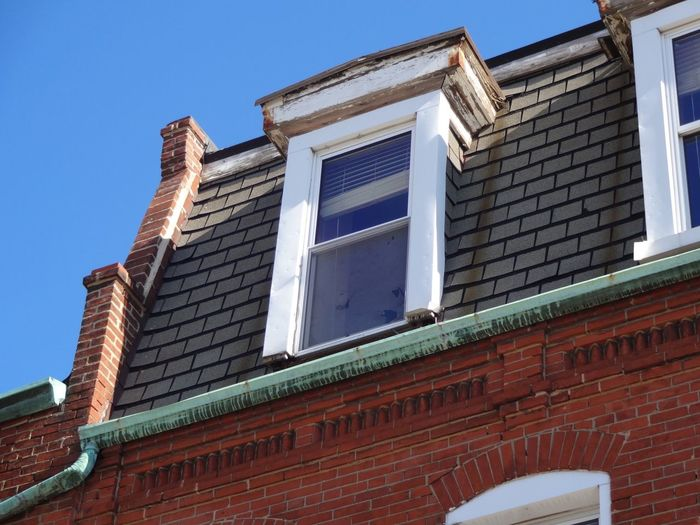 Low Angle View Of House Window