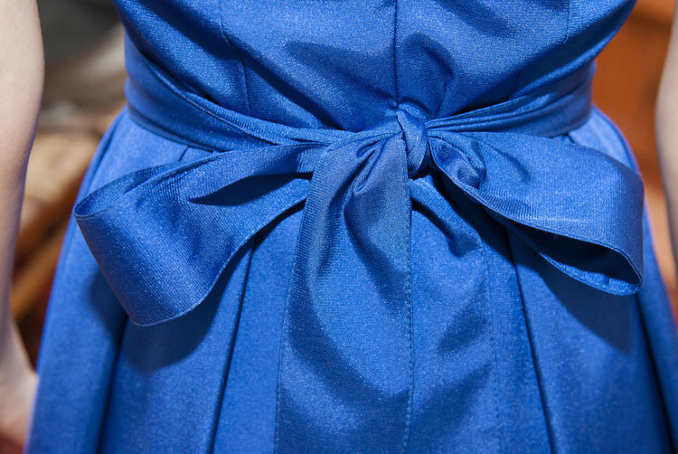 Blue Blue Dress Celebration Celebration Close-up Day Dress Evening Gown Fashion Fashion Details Fashion Industry Fashion&love&beauty Indoors  Midsection One Person People Real People Rear View Satin Silk Standing Texture Textured  Well-dressed Women