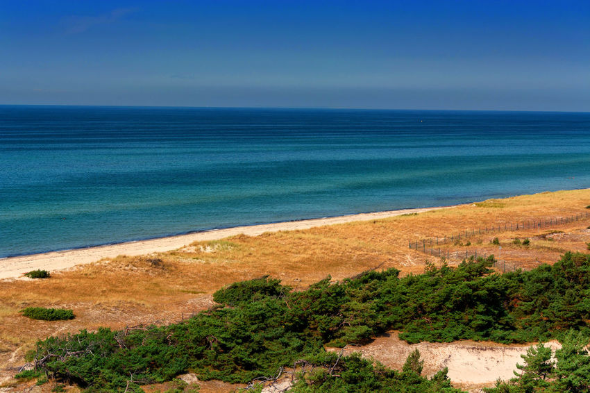 Prerow on the Darss, Vorpommersche Boddenlandschaft National Park, Germany Bay Beach Beauty In Nature Blue Day Environment Horizon Horizon Over Water Land Nature No People Outdoors Plant Scenics - Nature Sea Sky Tranquil Scene Tranquility Travel Destinations Turquoise Colored Water