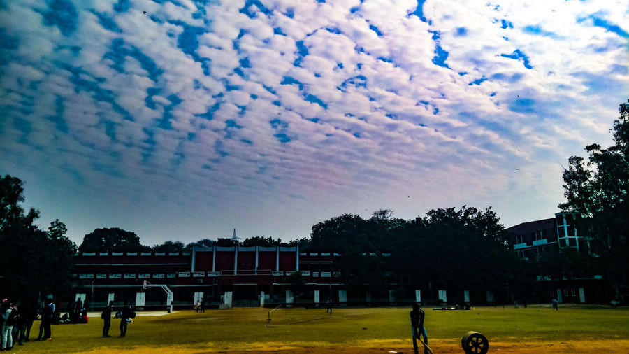 """winter days"" Cricket Match HANSRAJ Delhi Cloud - Sky Bunk History Large Group Of People Memorial Sky Outdoors Day People Tree"