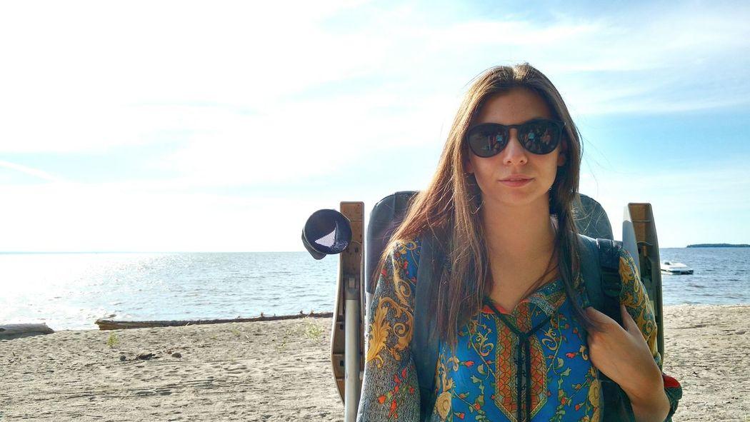My friend is a model, even if she doesn't already know it! Trust me! Friend Relaxing Future Model Beach Beautiful Girl