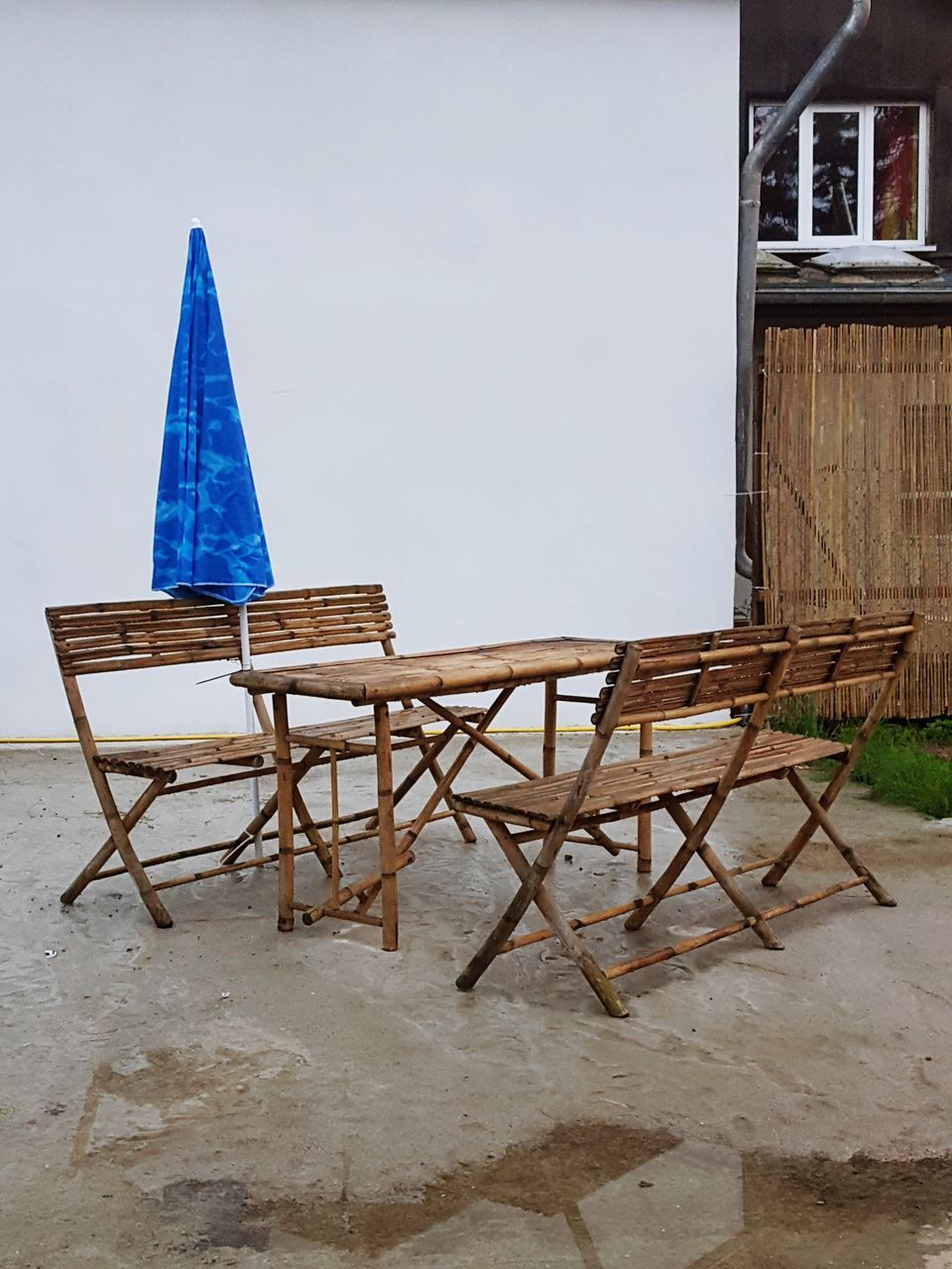 wood - material, built structure, no people, day, chair, outdoors, building exterior, sea, architecture, water, nature, sky