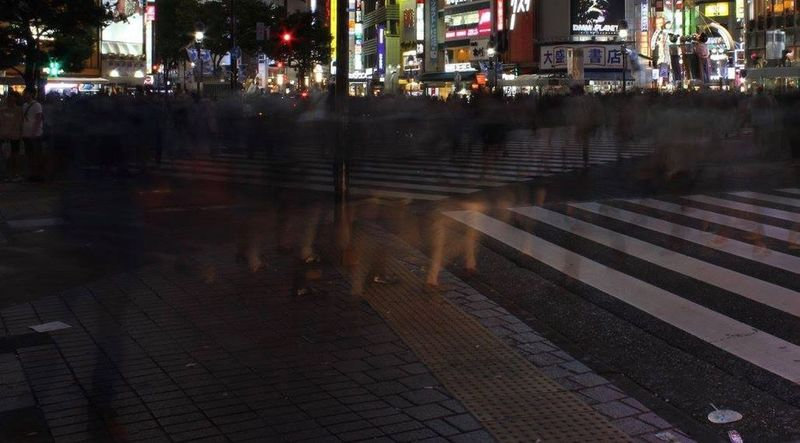 Street City Tokyo,Japan Night People Outdoors Roadways Scramble Crossing