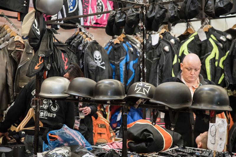 Biker Bikers Casque Dealer Helmet Helmets Jacket Jackets Merchandise Merchant Seller Shop Shopping Trader Tradesman Vendor Vest