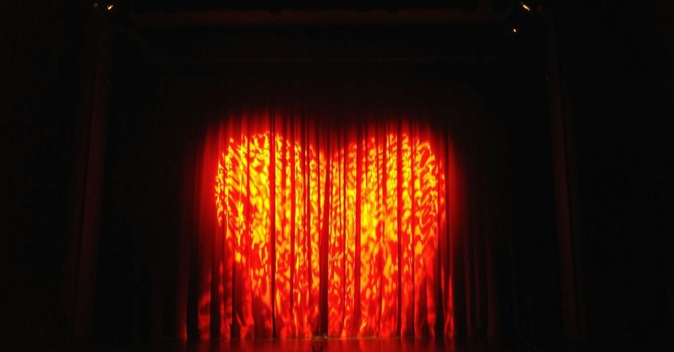 Red Glowing Indoors  Illuminated Theater Evening Your Ticket To Europe