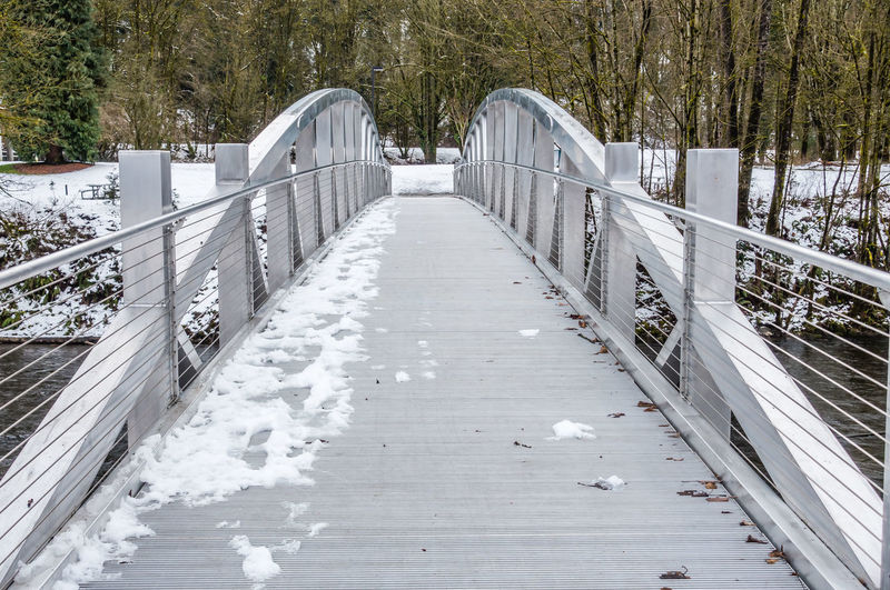 Walking bridge in winter. Architecture Walking Around Beauty In Nature Brdige Cold Temperature Day Metal Nature No People Outdoors Railing Snow The Way Forward Tree Winter