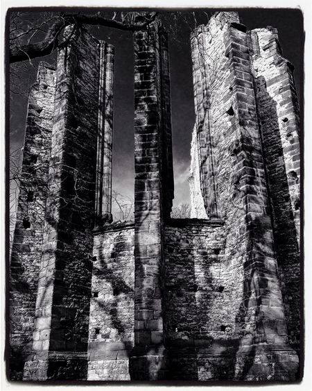 An Unfinished Gothic Church Panenský Týnec, Czech Republic Europe Blackandwhite Architecture Traveling Travel Travel Photography IPhoneography