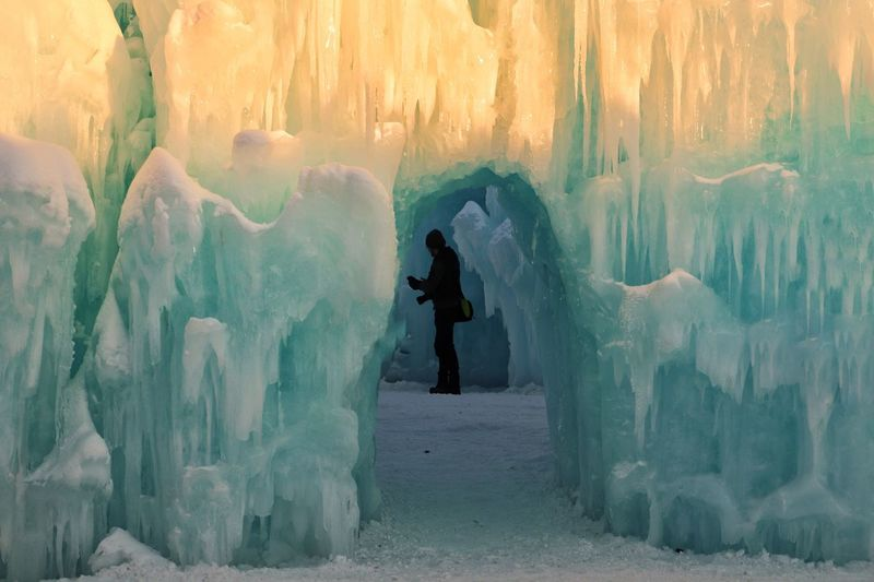 Sunlight Ice Sculpture Snow ❄ Full Length Cold Temperature Outdoors