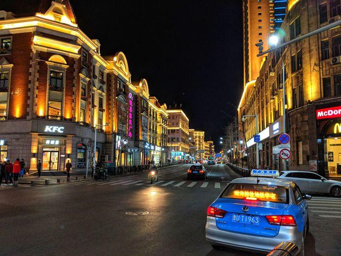 Night street of