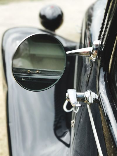 Land Vehicle Transportation Car Mode Of Transport Side-view Mirror Reflection Close-up Focus On Foreground Day Road Outdoors No People Retro Vintage Cars Reflection Vintage Citroen Window Transportation Mirror