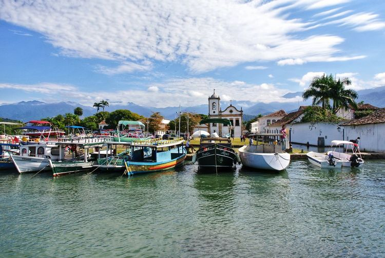 Paraty 11. Brazil. Oldtown Nature_collection Portugal Mountain Range Panorama Landscape_Collection Church Cityscape Ilha Grande Paraty Brazil Rio De Janeiro Rio De Janeiro Eyeem Fotos Collection⛵ Atlantic Ocean Historic Colonial Colonial Architecture From My Point Of View Aerial View Water Nautical Vessel Harbor Tree Moored Sea Sky Architecture Building Exterior Boat Water Vehicle
