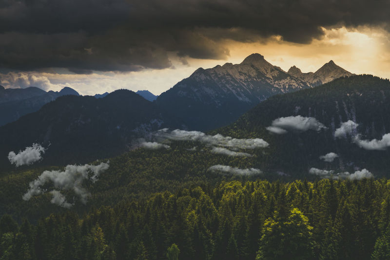 What a great moment in the alps Bayern Alps Alpen Mountain Moodygrams Moody Sky Bavarian Landscape Augsburg Moody Landschaft Wilderness Bayern Germany Outdoors Photograpghy  Outdoor Photography Germany EyeEm Selects Mountain Tree Sunset Dawn Sky Landscape