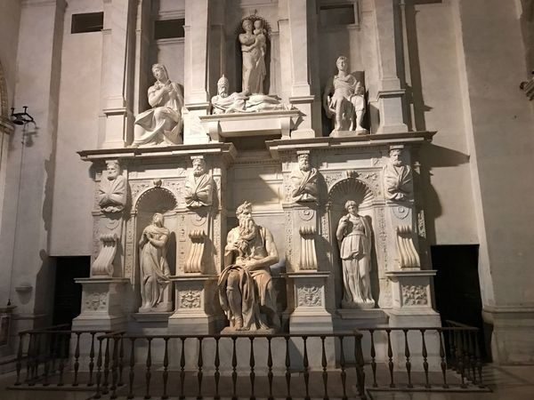 Rome Statue Religion Human Representation Sculpture Travel Destinations Architecture Place Of Worship Da Vinci Moises new Building Exterior Spirituality Built Structure Angel No People Outdoors Cultures Day The City Light