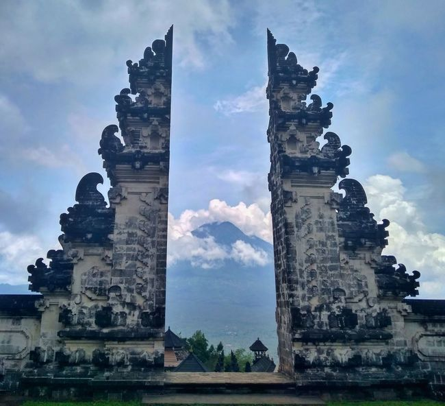 Architecture Cloud - Sky Built Structure History Old Ruin Building Exterior Sculpture Statue Day Outdoors No People Sky Ancient Civilization INDONESIA Landscape Bali, Indonesia Bali Tradition Mount Agung Agung Mountain Volcanic Landscape Temple - Building Temple Building Beauty In Nature Landascapephotography