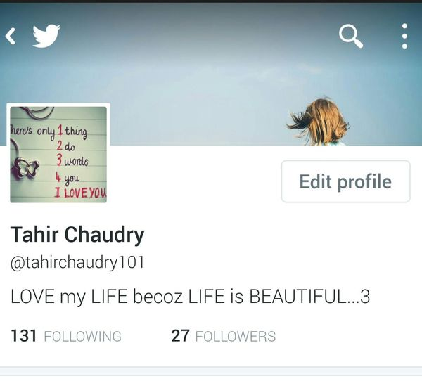 This is my new profile photo on twitter account Follow Me On Twitter ❤