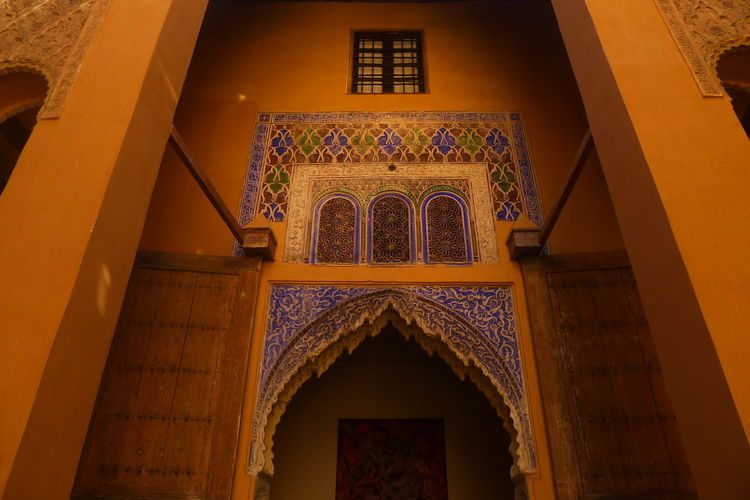 Arabic Arabic Architecture Arabic Style Arch Architectural Column Architectural Feature Architecture Built Structure Column Daar Sherifa Day Design Historic Illuminated Low Angle View Magic Hour No People Ornate Place Of Worship Travel Destinations