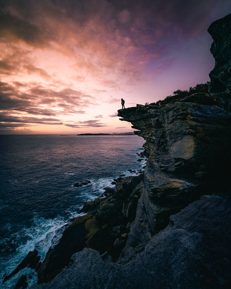 Beautiful Hello World High Resolution Moody Sky Seascape Photography Beauty In Nature Cliff Contrast High Angle View Sea And Sky Seascape Shillouette Sunrise Sunset Wide Angle The Great Outdoors - 2018 EyeEm Awards