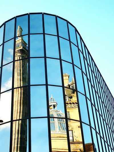 Reflection Architecture New And Old Newcastle Upon Tyne