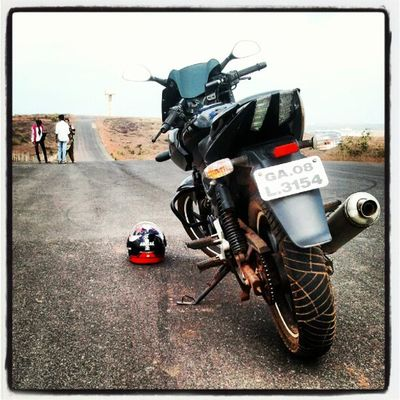 Lifes a journey.. I9003 India Goa Pulsar 220