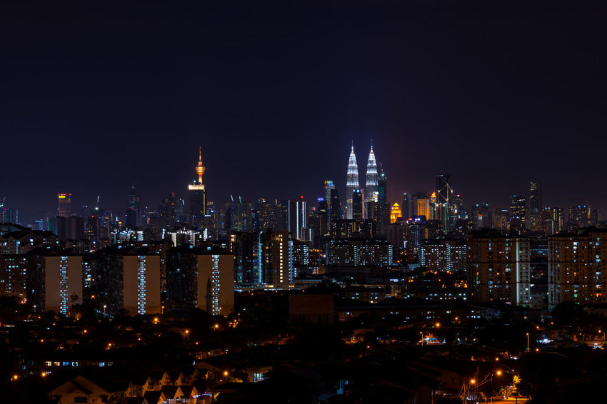 KUALA LUMPUR, MALAYSIA - 24TH FEBRUARY 2017; Kuala Lumpur, the capital of Malaysia. Its modern skyline is dominated by the 451m-tall KLCC, a pair of glass-and-steel-clad skyscrapers. Architecture Building Exterior Business Finance And Industry City Cityscape Downtown District Futuristic Illuminated Kuala Lumpur City Center Kuala Lumpur Malaysia  Kuala Lumpur Tower Kuala Lumpur Twin Tower Modern Night No People Outdoors Petronas Twin Towers Sky Skyscraper Tower Travel Destinations Urban Skyline