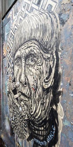 Stencil art Angle Beard Black And White Brick Lane, East London Face Male Malephotographerofthemonth Man Portrate Stencil Street Art Street Art Graffiti