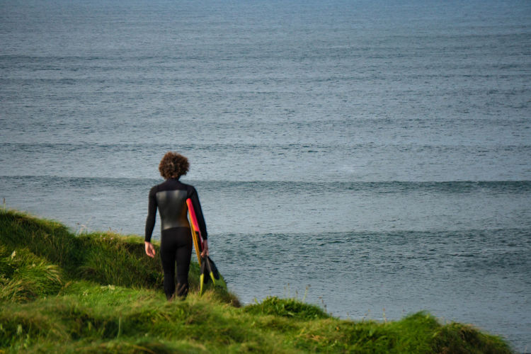 Sandbars// Surfphoto Bundoran A6300 Wildatlanticway Surf Water Sea Full Length Men Standing Adventure Rear View Beach Sky Grass Fisherman Surfer Surfing Water Sport Wave