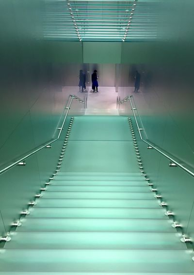 Steps to genius Modern Buildings Apple Store Minimal Interiors Glass Architecture Glass - Material Glass Green Hues Indoors  Staircase Modern Architecture Built Structure Steps