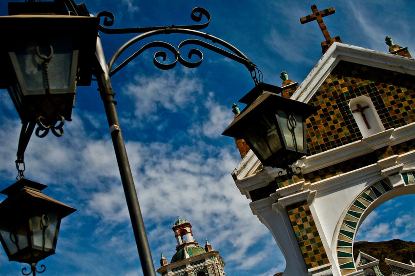 Copacabana Bolivia Architecture Building Exterior Built Structure Cloud - Sky Low Angle View No People Outdoors Place Of Worship Plaza Religion South America Spirituality