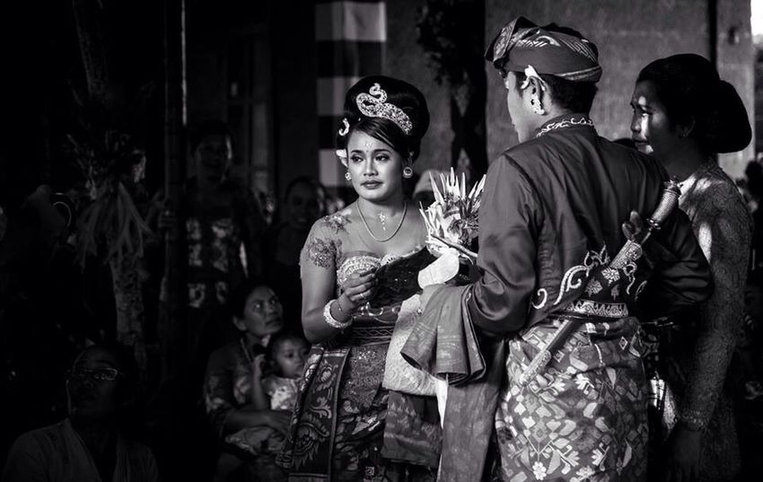 Portrait Blackandwhite Wedding Bali