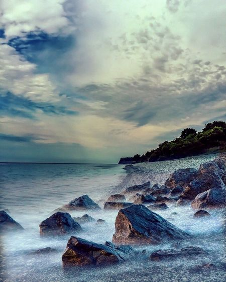 Cloudy evening on the beach Clouds And Sky Beachphotography Photooftheday Nature Photography Nature_collection Landscape_photography Landscape