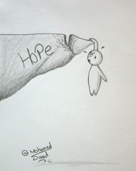 Losing Hope Art, Drawing, Creativity Drawing