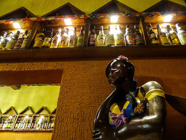 ezefer Art And Craft Brazilian Built Structure Cachaça Craft Day Human Representation Illuminated Indoors  Low Angle View Male Likeness No People Place Of Worship Religion Restaraunt Sculpture Spirituality Statue
