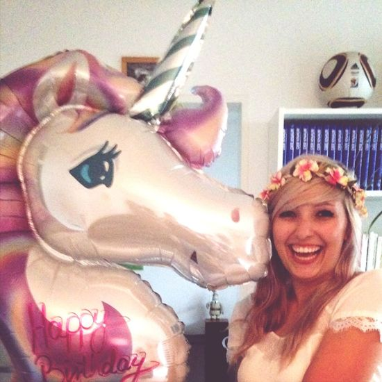 Kissed by a Unicorn Love Happy Birthday!