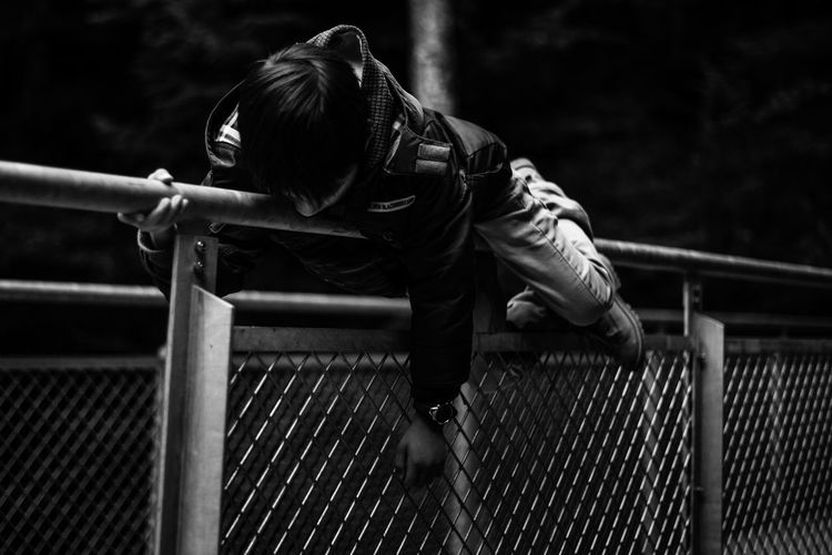 One Person People Young Adult Young Boy Outdoors Real People Leisure Activity Blackandwhite Black And White Black & White Thinking Relaxing Hanging Around Silence Thinking About Life Calm Warm Clothing The Week On EyeEm