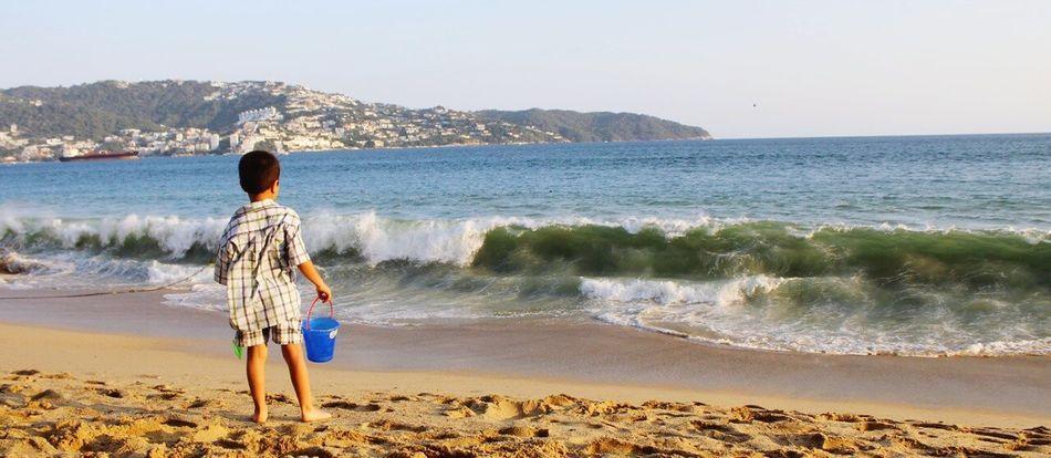 Kid, See, Mexican Boy, Acapulco, Beach.