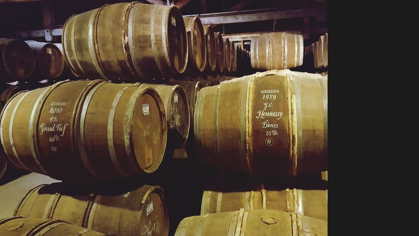Indoors  Cellar No People Day Wine Cask Close-up Business Finance And Industry Factory Barrels Abundance Alcohol In A Row Large Group Of Objects Food And Drink Industry Barrel Warehouse Arrangement Industry Drink Travel Destinations Cognac Region Cognac Ville De Cognac Barrels Of Cognac Basement