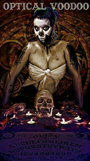 Skull Voodoo Optical Voodoo  Ouija Board