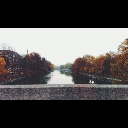 River Isar in Munich, Germany Autumn Isar Munich No People Outdoors Autumn Colors