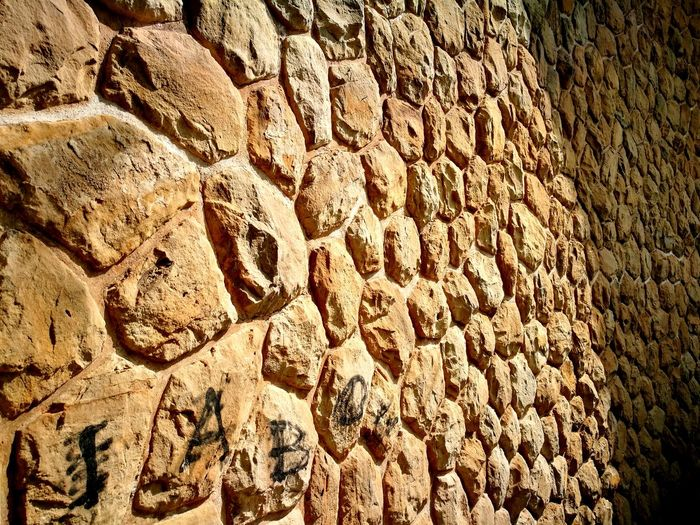 Natural Stone Wall Wall Mauer Naturstein Pattern Hintergrund Backgrounds Full Frame Textured  Sunlight Pattern Close-up Stone - Object Stone Wall