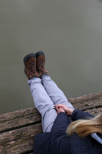Break at the lake Walking Boots EyeEm Selects Low Section Human Hand Women Sitting Human Leg Casual Clothing Footwear Shoe Legs Crossed At Ankle Personal Perspective Human Feet 50 Ways Of Seeing: Gratitude