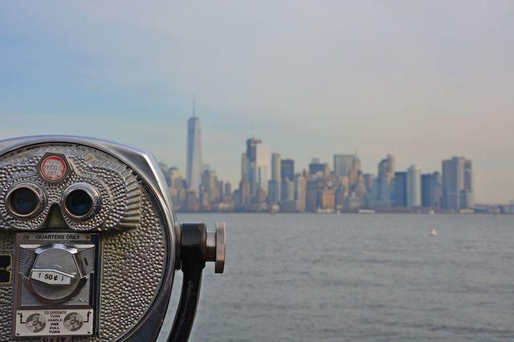 Manhattan Travel Photography Nikon Scenics Amazing View OpenEdit USA Travel Destinations New York New York City One World Trade Center City Coin-operated Binoculars Urban Skyline Water Skyscraper