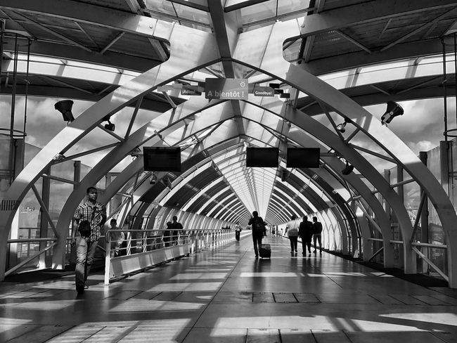 Massy RER Station 😀 Suburb of Paris France Photooftheday Architecture Light And Shadow Bnw Blackandwhite Train Station Modern People Tourism Travel Destinations Tourist Attraction  Subway Station Walking IPhoneography Outofthephone Iphoneonly Streetphotography Parisian Place To See