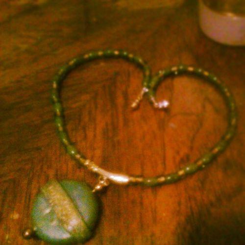 Goodluckcharm Goodluck Luckycharm Greenjewelery jewelery necklace green hipster gypsy gypsystyle fashion vinatge vintagejewelery gift beautiful girl love style toronto