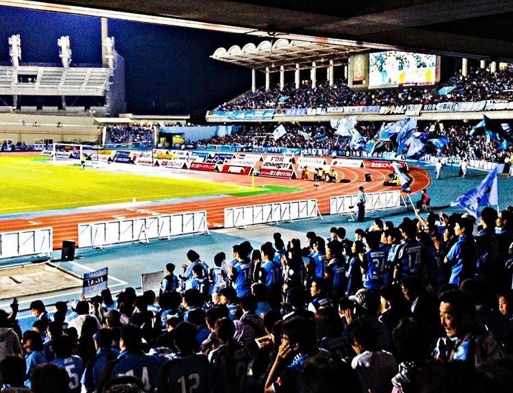 RePicture Team desprate fans wishing for a goal. at the match of Kawasaki Frontale versus F.C. Tokyo. J1 / 24th Sec. Todoroki Athletics Stadium. Kawasaki, Kanagawa; Japan. 2014/09/20. iPhone 5s. Football people Enjoying Life