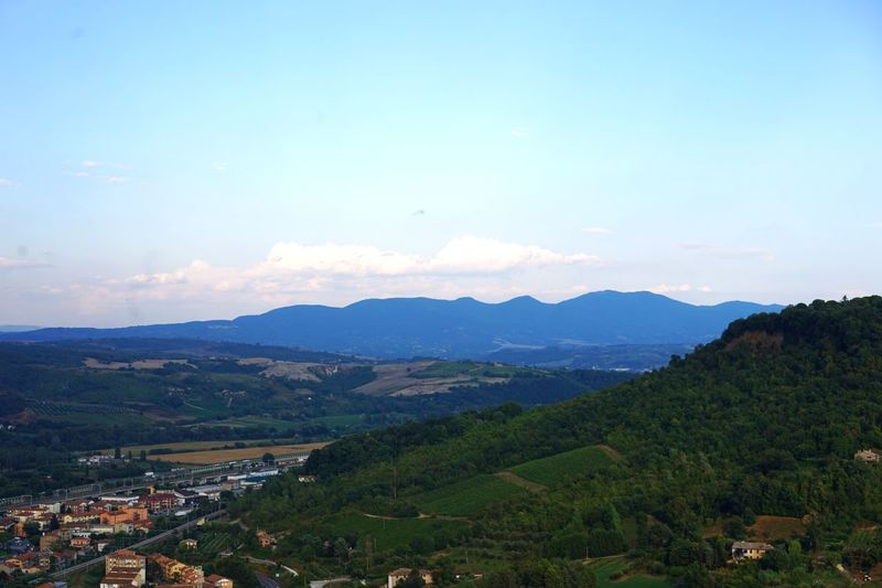 Umbria, Italy Sky Mountain Scenics - Nature Beauty In Nature Environment Landscape Cloud - Sky Nature Mountain Range Tranquil Scene Tranquility No People Land