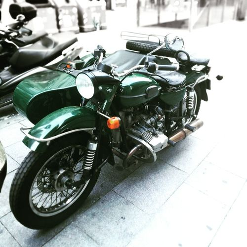 Sidecar Motorcycle Barcelona Classic Retro Vintage Side-car