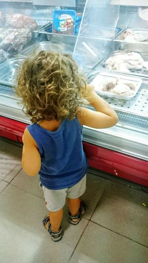 Supermarket Shoppping Children Photography Simple Moment